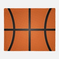 Basketball Pattern Throw Blanket