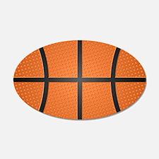 Basketball Pattern Wall Decal