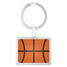 Basketball Pattern Landscape Keychain