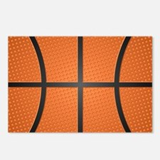 Basketball Pattern Postcards (Package of 8)
