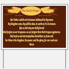 Lords Prayer Wheat Yard Sign