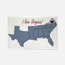 Virginia-South Rectangle Magnet