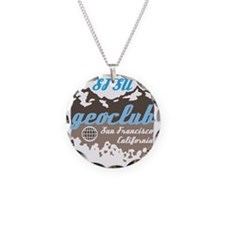 GeoClub logo 4 in brown and  Necklace