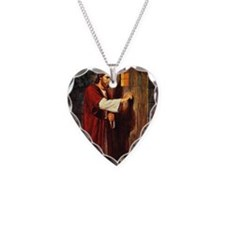 Christ at your hearts door Necklace Heart Charm