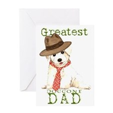 Bichon Dad Greeting Card