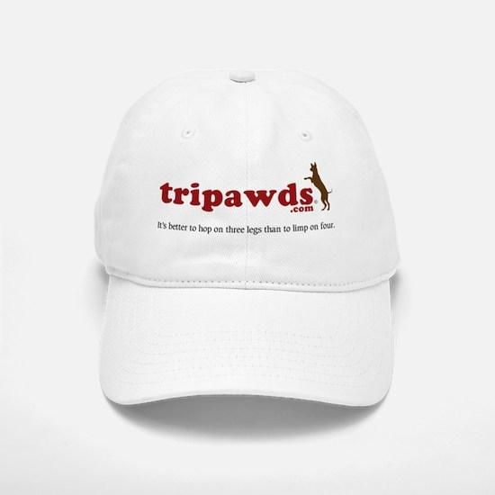 Tripawds Three Legged Dogs Tagline Baseball Baseball Cap