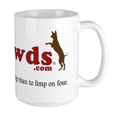 Tripawds Three Legged Dogs Tagline Mug
