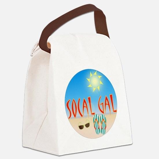 Socal Gal Canvas Lunch Bag