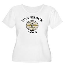 USS Essex CVA 9 Women's Plus Size Scoop Neck Tee