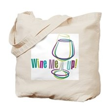 WineMeUp_WHT_FNL-01 Tote Bag