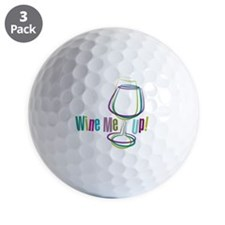 WineMeUp_WHT_FNL-01 Golf Ball