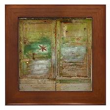Rustic Green Wood Doors Framed Tile
