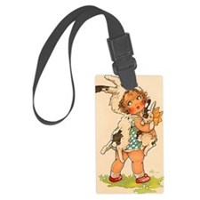 Cute Vintage Bunny Girl Luggage Tag