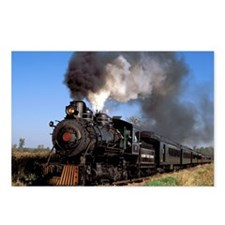 Antique steam engine trai Postcards (Package of 8)