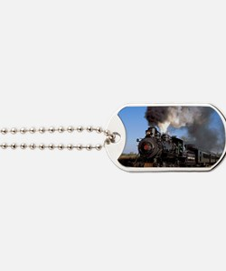 Antique steam engine train Dog Tags