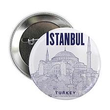 "Istanbul_10x10_HagiaSophia_v1_Blue 2.25"" Button"