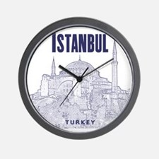Istanbul_10x10_HagiaSophia_v1_Blue Wall Clock