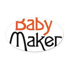 Baby Maker Oval Car Magnet