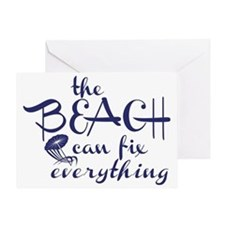 The Beach Can Fix Everything Greeting Card
