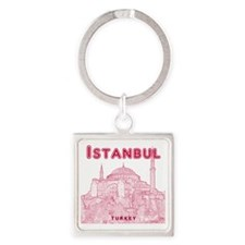 Istanbul_10x10_HagiaSophia_v2_Red Square Keychain