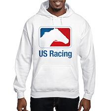 US Racing - Horse Head Slogan, L Hoodie