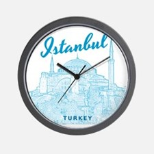 Istanbul_10x10_HagiaSophia_v3_Blue Wall Clock