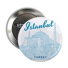 "Istanbul_10x10_HagiaSophia_v3_Blue 2.25"" Button"