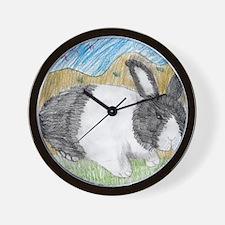 Dutch Bunny Wall Clock