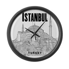 Istanbul_10x10_HagiaSophia_v1_Bla Large Wall Clock