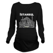 Istanbul_10x10_Hagia Long Sleeve Maternity T-Shirt