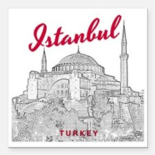 """Istanbul_10x10_HagiaSoph Square Car Magnet 3"""" x 3"""""""