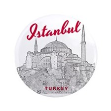 "Istanbul_10x10_HagiaSophia_v3_BlackRed 3.5"" Button"