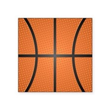 "Basketball Pattern Square Sticker 3"" x 3"""