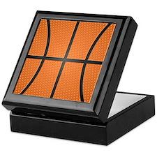 Basketball Pattern Keepsake Box