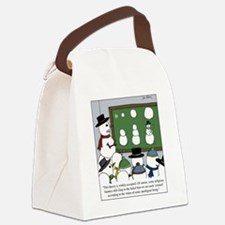 Snowman Evolution Canvas Lunch Bag