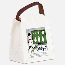 Snowman Evolution Canvas Lunch Bag