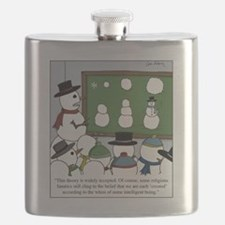 Snowman Evolution Flask