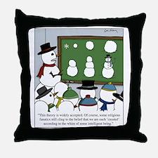 Snowman Evolution Throw Pillow