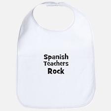 Spanish Teachers Rock Bib