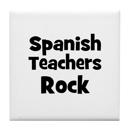 Spanish Teachers Rock Tile Coaster
