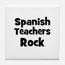 Spanish Teachers Rock Tile Coaster
