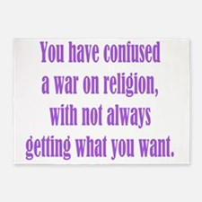 War on Religion 5'x7'Area Rug