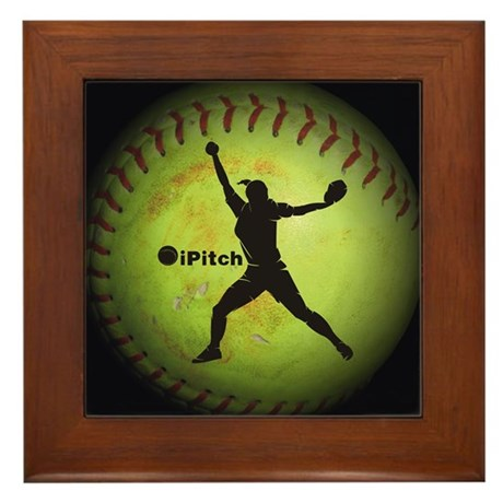 iPitch Fastpitch Softball (right handed) Framed Ti