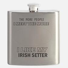 I Like My Irish Setter Flask