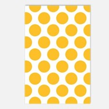 Sunny Yellow Polkadot Postcards (Package of 8)