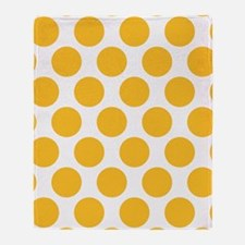 Sunny Yellow Polkadot Throw Blanket