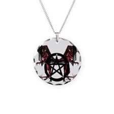 Red Dragons with Pentacle Necklace