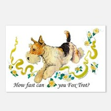 Fox Terrier Frolic Postcards (Package of 8)