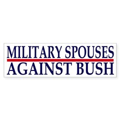 Military Spouses Against Bush (Sticker)