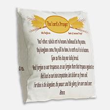 The Lords Prayer Wheat Burlap Throw Pillow